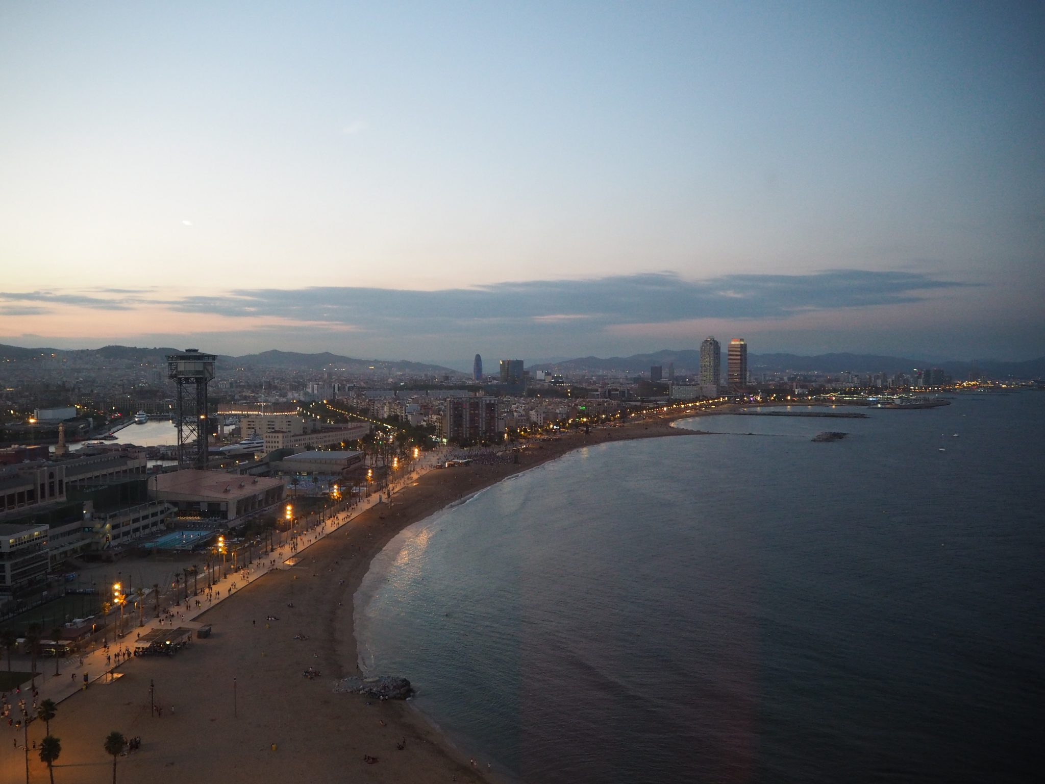 View from the Hotel W Barcelona