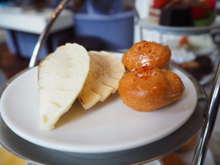 Chicken and Vegetables Dumpling; Sweet & Sour Profiterole
