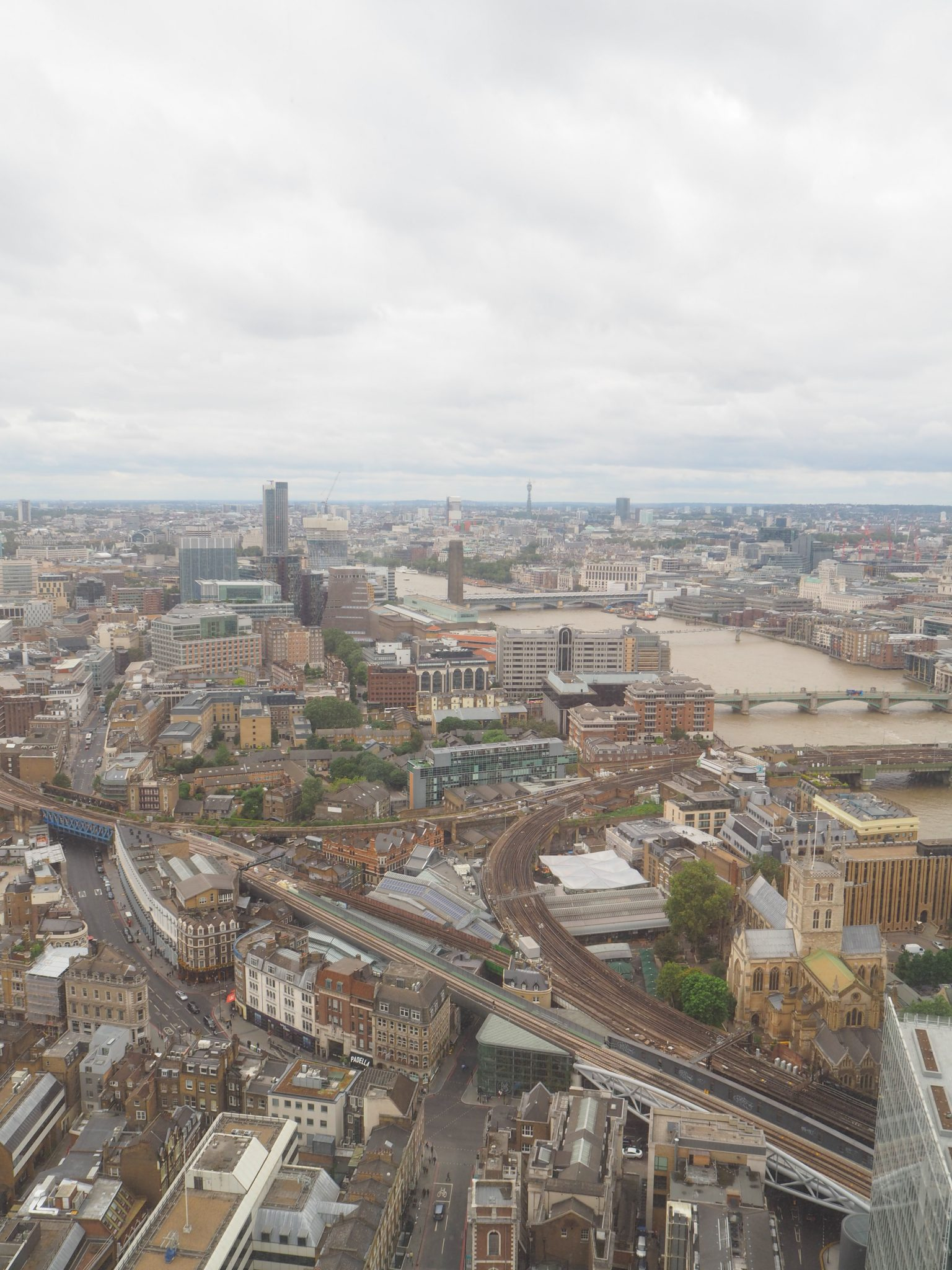 The Shangri-La at The Shard TING Lounge view