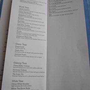 Shangri-La at the Shard - Tea Menu