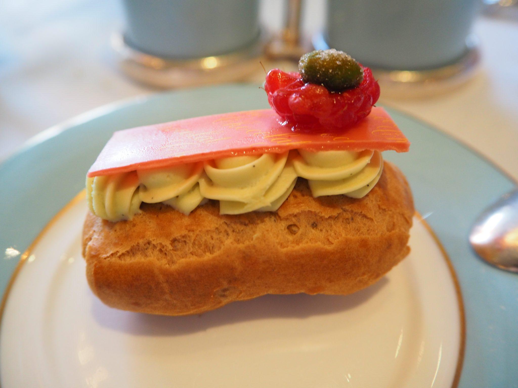 Raspberry, Pistachio & Chocolate Eclair
