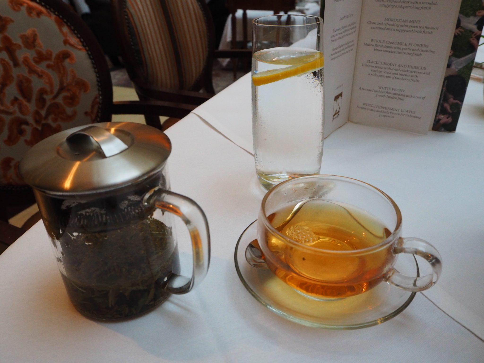 White Peony tea - The Westin Hotel Dublin