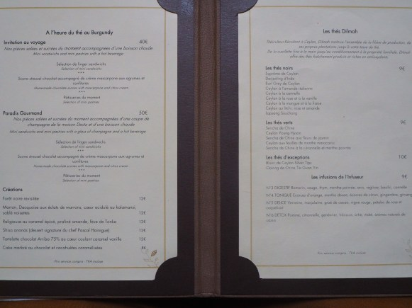 Beverage Menu / Boissons