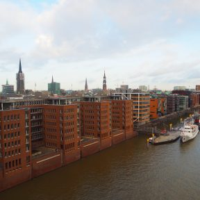 View of HafenCity from The Elbphilharmonie