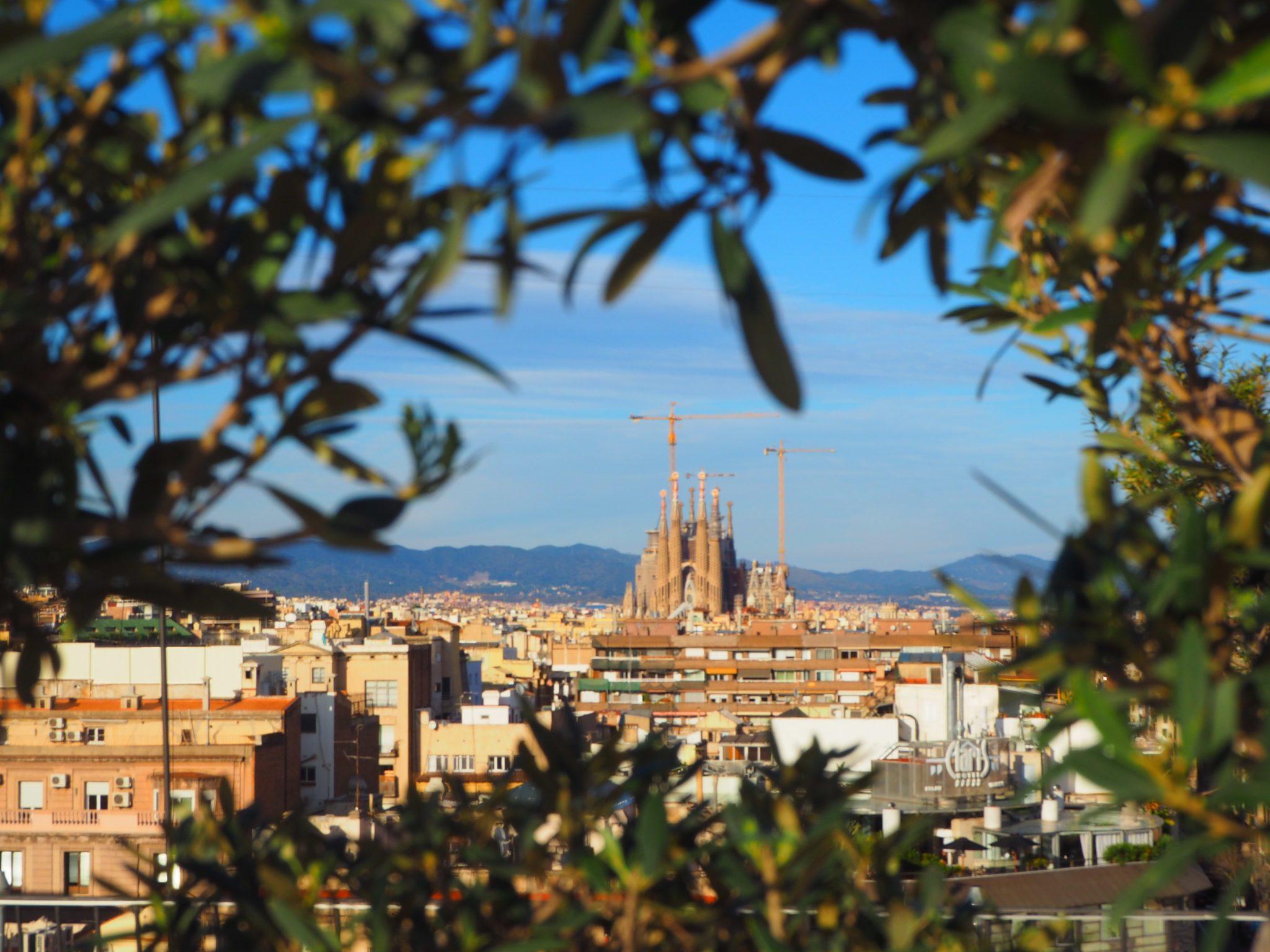 Sagrada Familia view from the Bar Terraza La Dolce Vita
