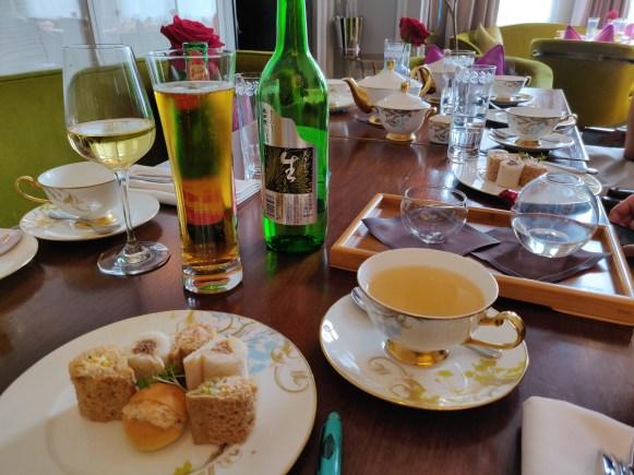 The Savouries paired with Tea, Alsatian wine, Beer & Saké
