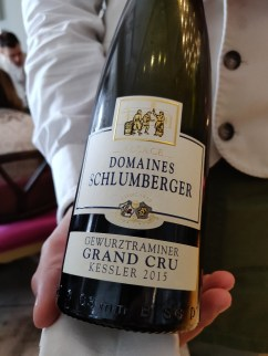 Gewürztraminer, Grand Cru Kessler 2014 Bright golden yellow colour with notes of sweet peaches and rose petals.