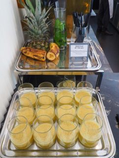 Smoothie of the day (pineapple, passion fruit, mint & banana)
