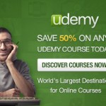Learn and develop skills in Technology, Programming, Business, Design, Photography etc on Udemy Online Courses at 50% Scholarship – Limited time offer