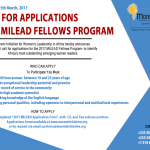MILEAD Empowerment and Leadership Fellowship for Young African Women 2017