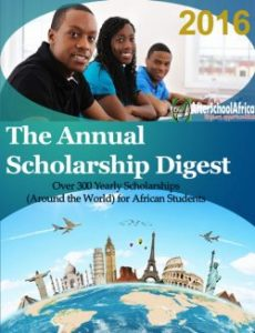 Annual scholarship digest