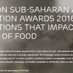 Do You Have an Innovation that Impacts the Future of Food? Enter for the Ericsson Sub-Saharan Africa Innovation Awards 2016