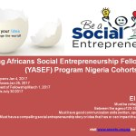 Young Africans Social Entrepreneurship Fellowship (YASEF) Program 2017 Nigeria Cohorts 1 & 2
