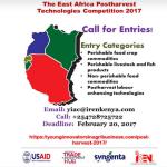 Apply: East Africa Postharvest Technologies Competition 2017 (EAPTC-2017) for Innovative Entrepreneurs in East Africa