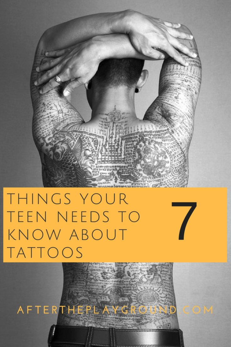 7 things your teen needs to know about getting a tattoo for How to decide what tattoo to get