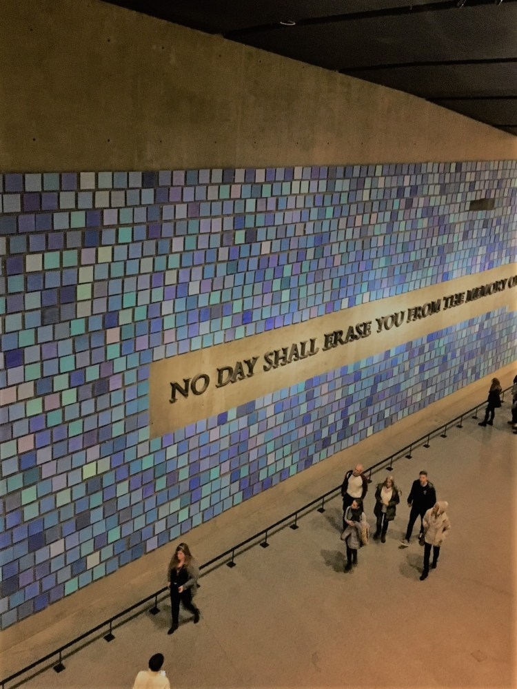 Things to do in New York with teens at Christmas art work at the 9/11 memorial
