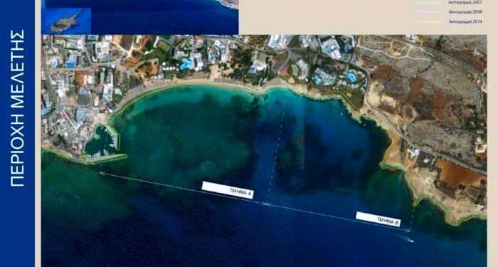 παραλίας Πανταχού και Γλυκύ Νερό στην Αγία Νάπα