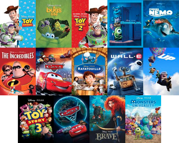 pixar movies All