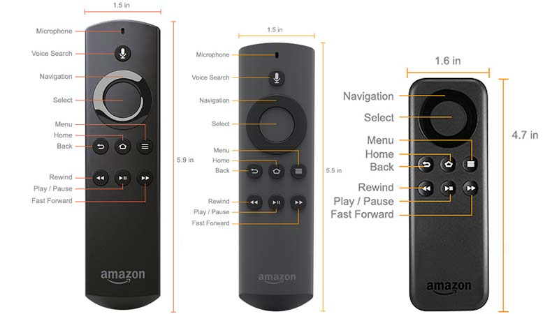 List of all Fire TV and Fire TV Stick Remote and Game Controller