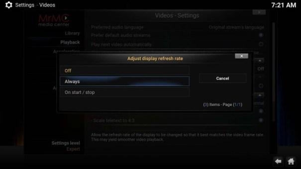 mrmc-settings-video-playback-refresh-rate