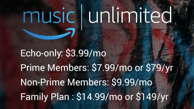 Amazon Launches New Amazon Music Unlimited Streaming Music Service