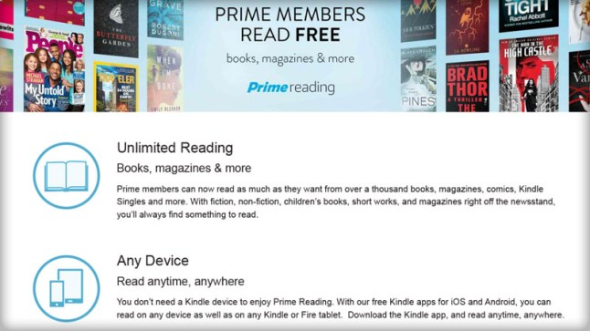 Amazon Prime members can now read over a thousand books, magazines