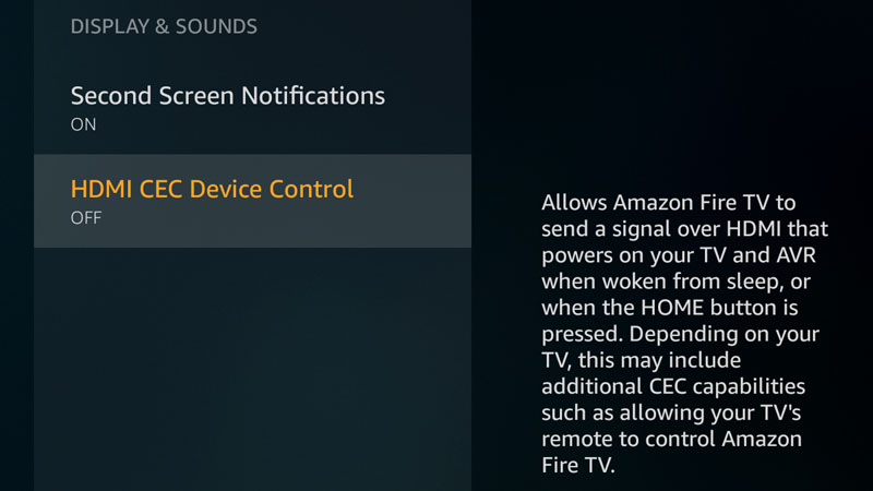 amazon fire tv gains the option to disable hdmi cec in new 5 2 4 0 rh aftvnews com Sony BRAVIA HDMI No Signal Sony BRAVIA HDMI Arc