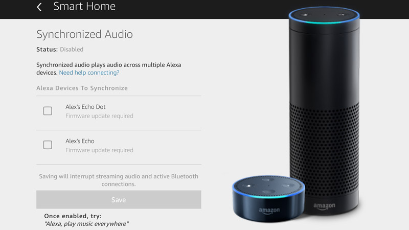 Amazon Echo whole-home-audio testing complete and ready to