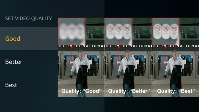 You can now select from 3 video quality settings on the