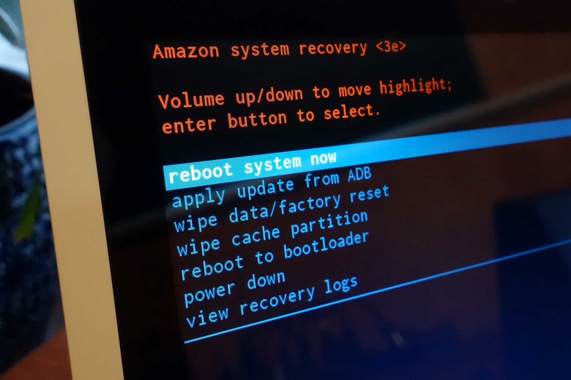 How to enter Fastboot and Recovery Mode on the Amazon Echo