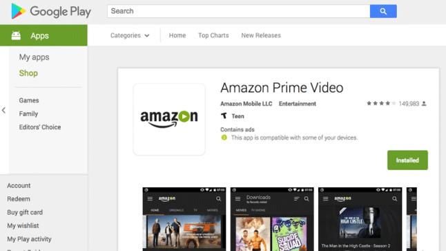 prime video app not working