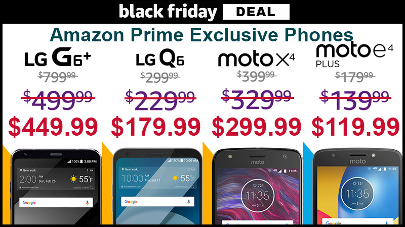 Prime Exclusive Phones from LG and Moto are on sale for Black Friday