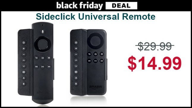 Sideclick Universal Remote For Fire Tv And Fire Tv Stick
