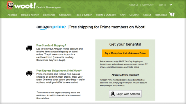 c9bae0ae8f730 Amazon Prime members now get Free Shipping at Woot.com | AFTVnews