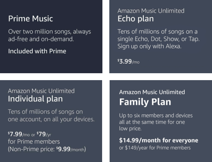 amazon music price