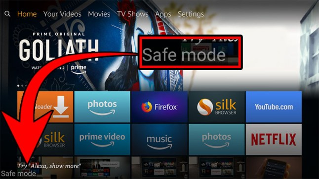 Amazon Fire TV Cube supports Safe Mode, Shutdown, Fastboot