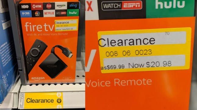 Fire TV 3 (pendant) is on clearance for $20 98 in Target