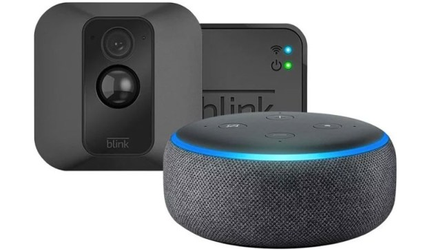 Blink XT Security Camera w/ Echo Dot 3 on sale for $78 99