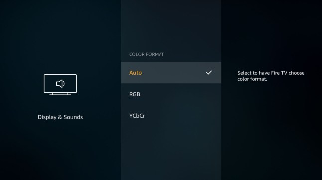 New color format option on Amazon Fire TVs will