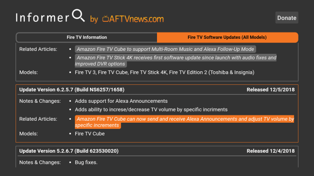 """Introducing my new app """"Informer"""" for all Amazon Fire TV devices"""