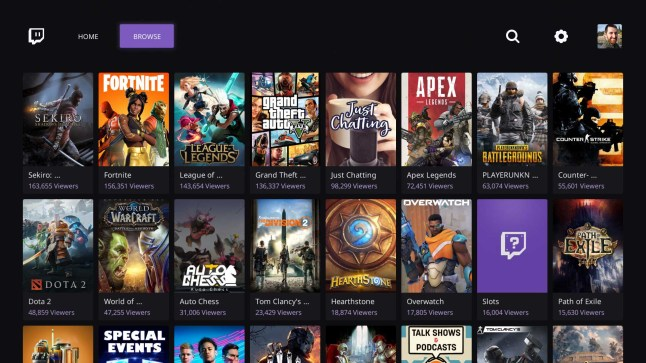 Twitch app for Amazon Fire TV receives major redesign with live