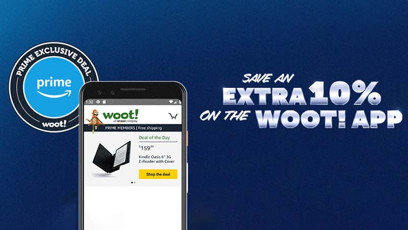 Prime Members get 10% off anything at Woot! — Today only