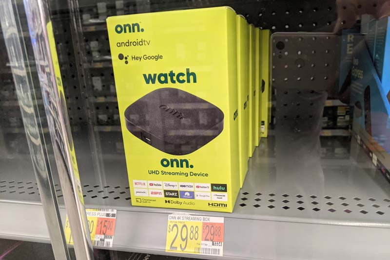 Walmart's Onn Android TV streaming box is a rebranded Dynalink / Google ADT-3 reference design