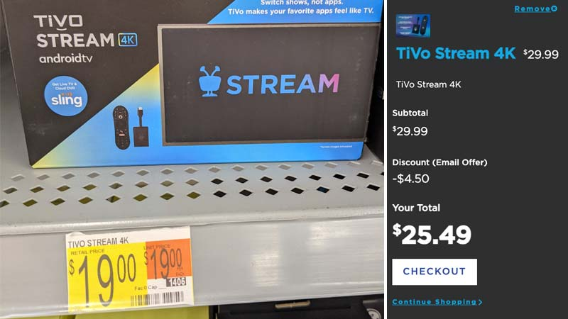 Tivo Stream 4K dropping to $19 at some stores in possible fire sale — $25.49 at Tivo.com