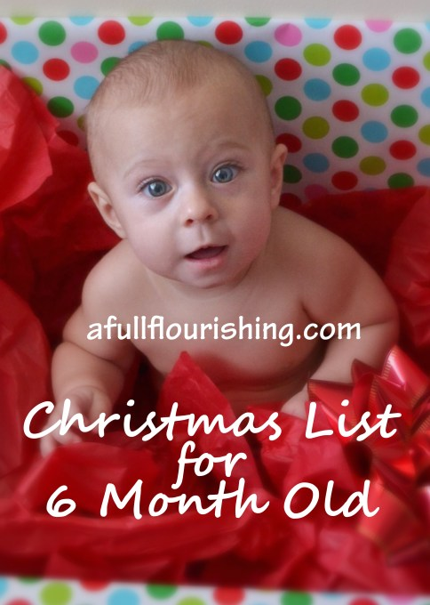 christmas list for 6 month old at afullflourishingcom - What To Get A 6 Month Old For Christmas