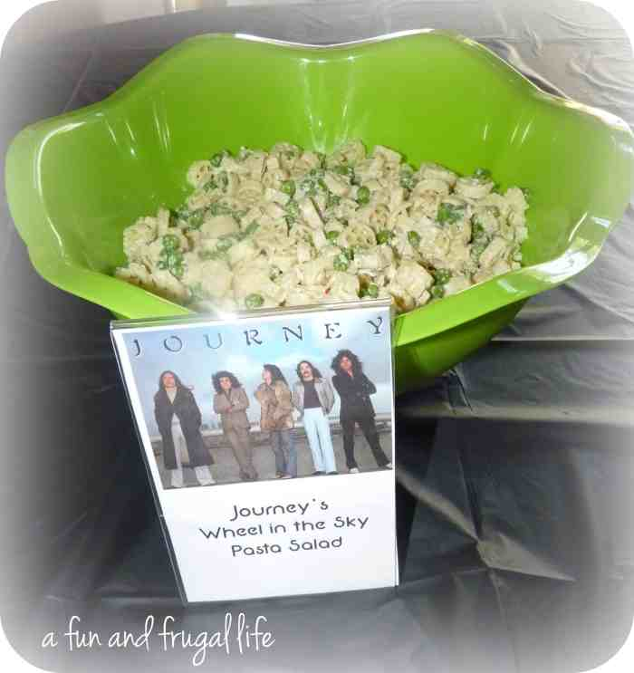 Journey's Wheel in the Sky pasta salad from a Fun and Frugal Life
