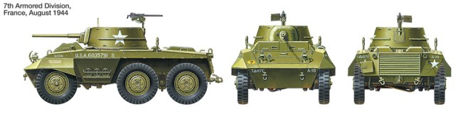M8 Armored Car Greyhound TAMIYA 25196