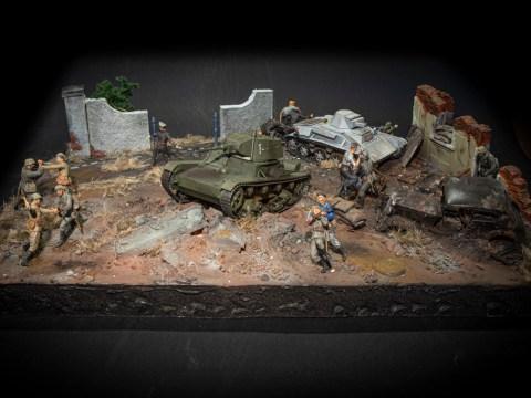 Hand to Hand Combat - Diorama