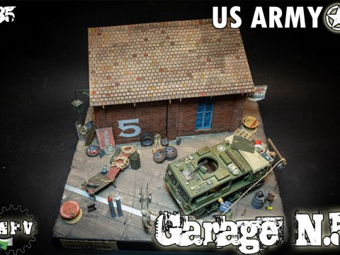 US ARMY GARAGE DIORAMA