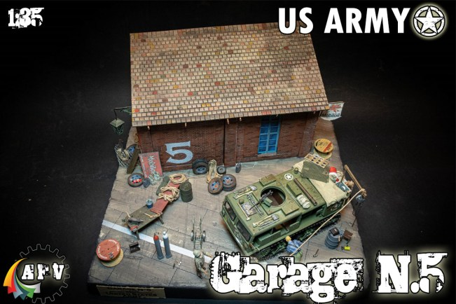 US ARMY GARAGE DIORAMA